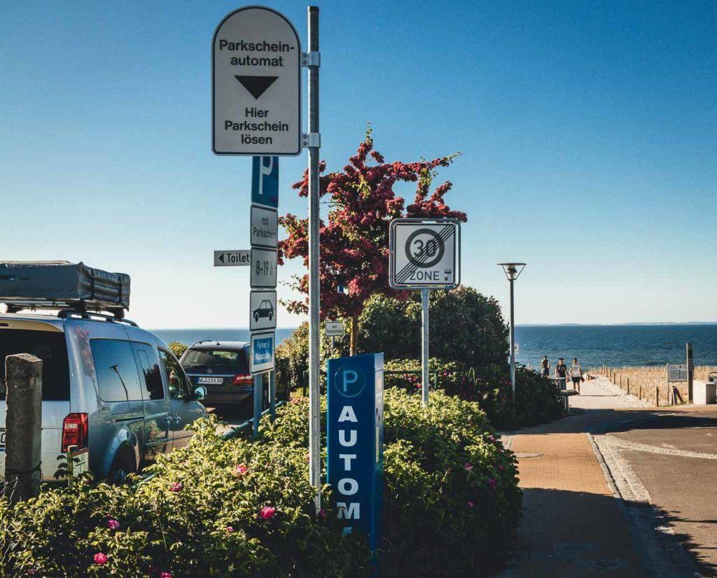 Parken in Lubmin ist selten kostenlos