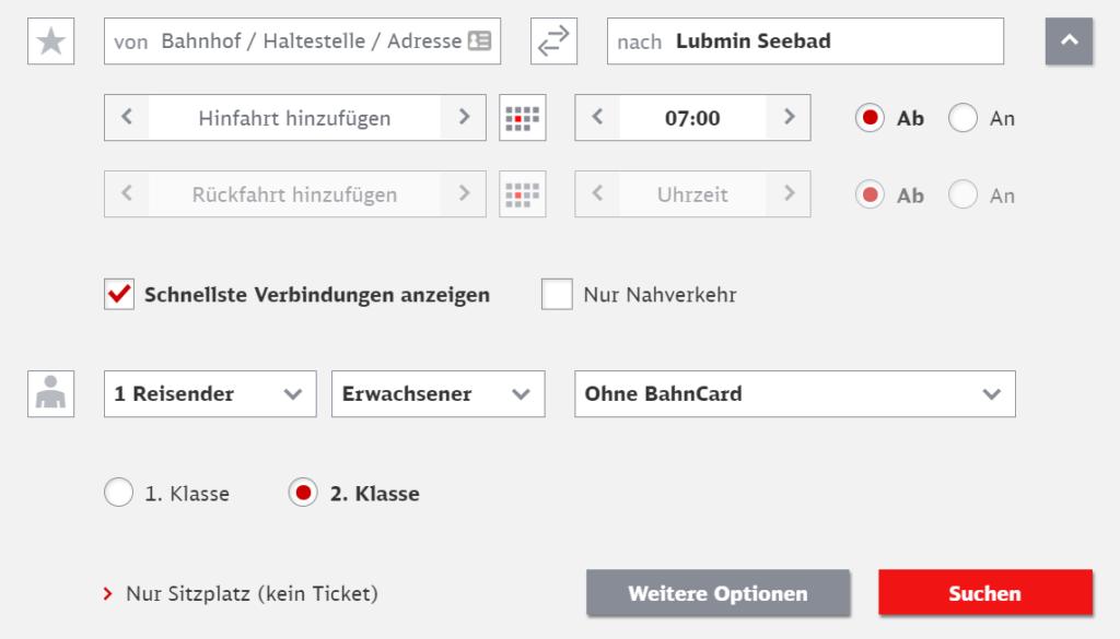 Busverbindung von Greifswald nach Lubmin und Wolgast mit der Deutschen Bahn finden