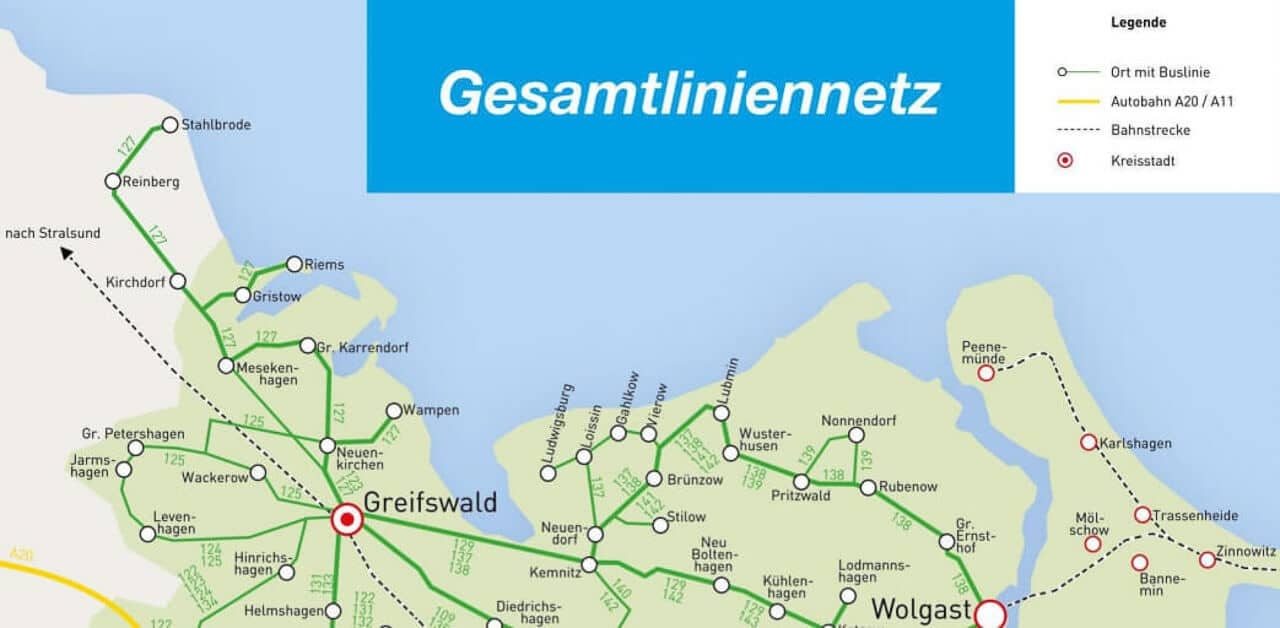 Busverbindung Greifswald Lubmin Wolgast