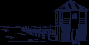 Seebrücke Lubmins gezeichnet